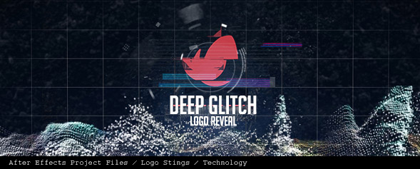 Deep Glitch Logo Reveal