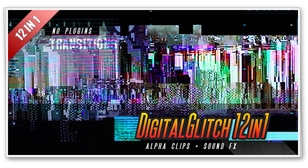 Digital Glitch Transitions 12in1